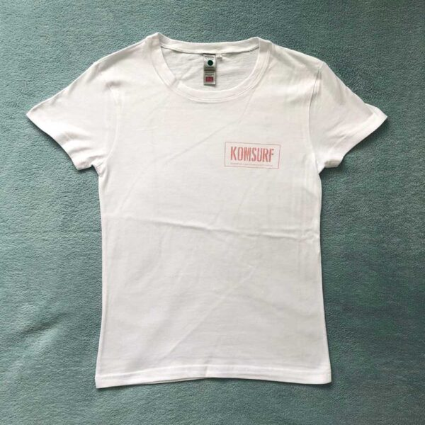 White Komsurf Map Tee by Komsurf
