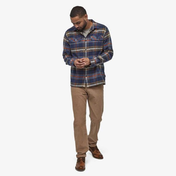Men's Long-Sleeved Fjord Flannel Shirt by Patagonia